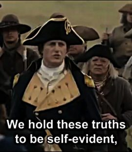 George Washington Reads The Declaration of Independence to His Men