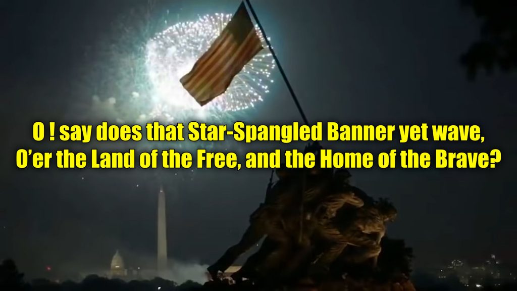 The Star Spangled Banner – Fireworks over the Iwo Jima memorial