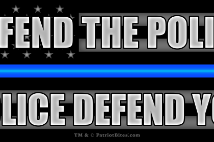 Defend the Police – Police Defend You - Thin Blue Line Black Flag
