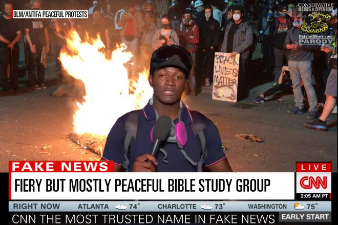 CNN Fiery But Mostly Peaceful Bible Study Group