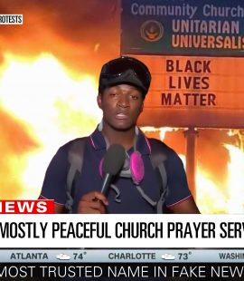 CNN Fiery But Mostly Peaceful Church Prayer Service