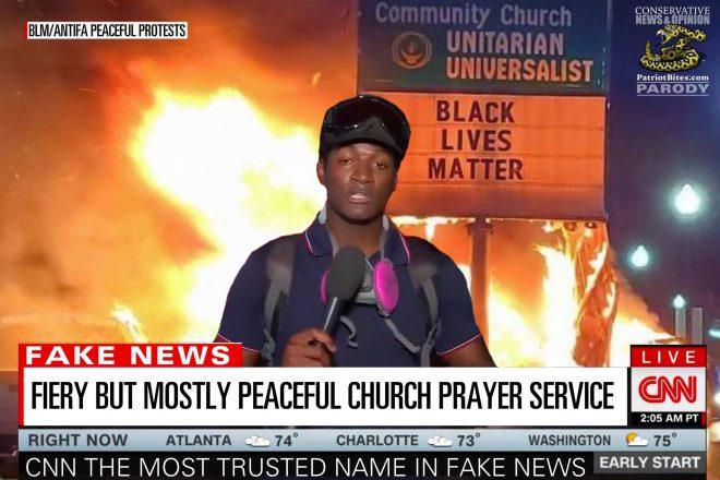 CNN Fiery But Mostly Peaceful Church Prayer Service