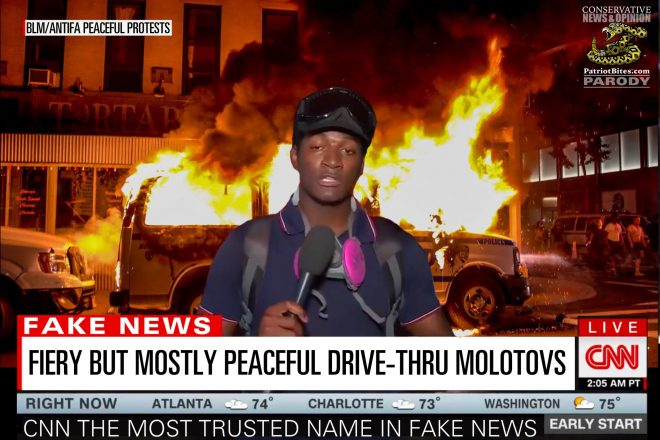 CNN Fiery But Mostly Peaceful Drive-thru Molotovs