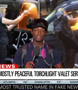 CNN Fiery But Mostly Peaceful Torchlight Valet Service