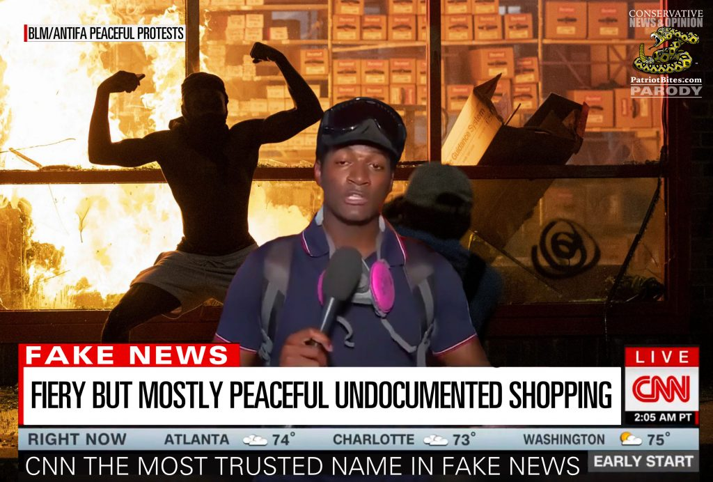 CNN Fiery But Mostly Peaceful Undocumented Shopping