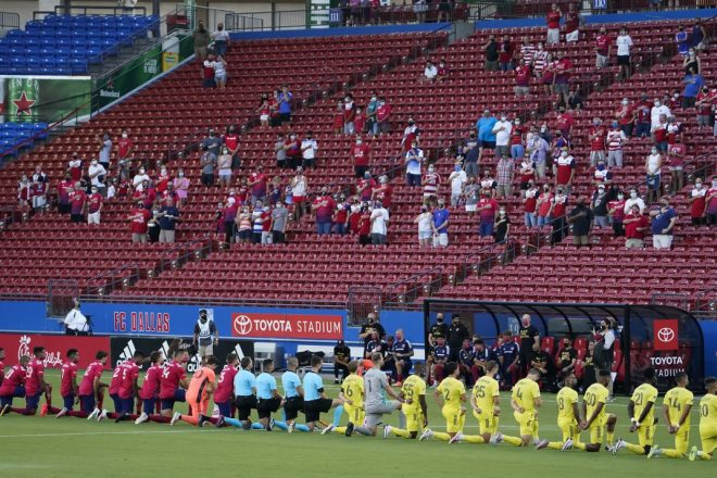 Fans Boo Kneeling MLS Players