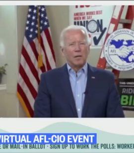 Joe Biden Reads Answers off Teleprompter