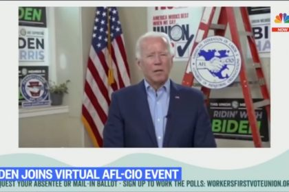 Joe Biden Reads Answers off Teleprompter