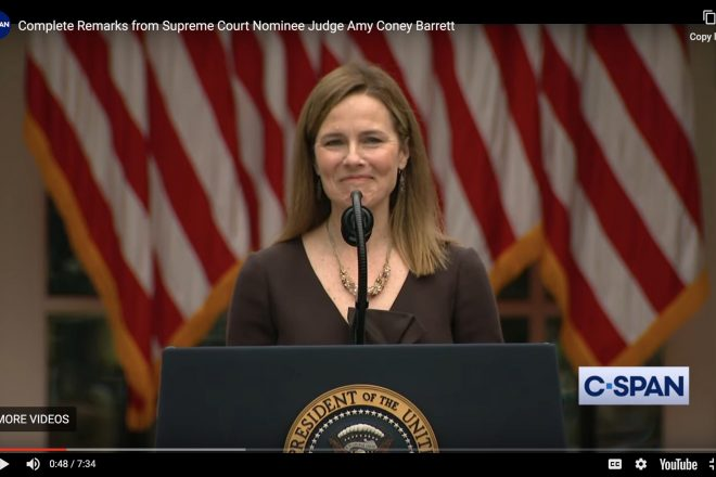 Supreme Court Nominee Amy Coney Barrett
