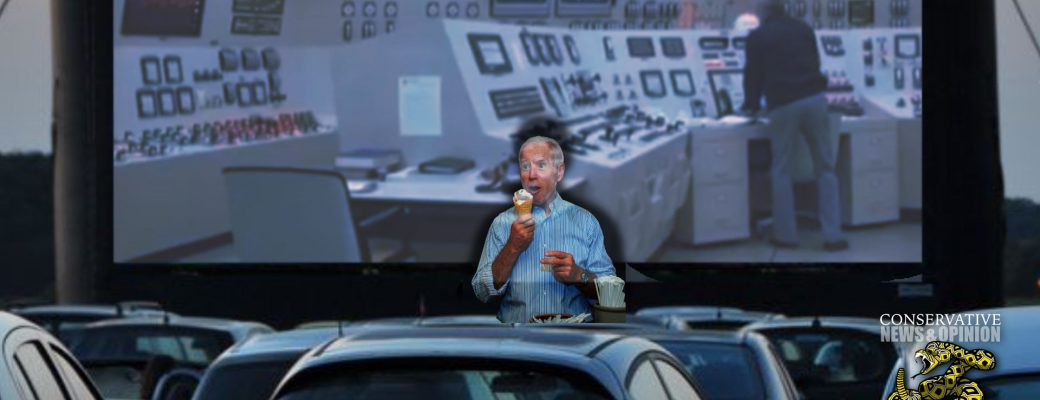 Sleepy Joe Biden Yelling Gibberish at Honking Cars at a Drive-In