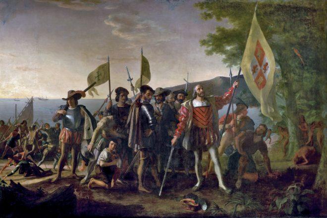 Columbus Day - Landing of Columbus - John Vanderlyn - 1846 US Capitol
