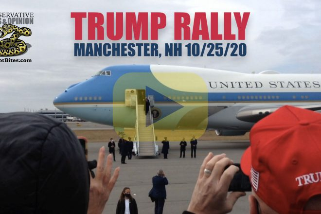 Trump Rally Manchester NH with Air Force One