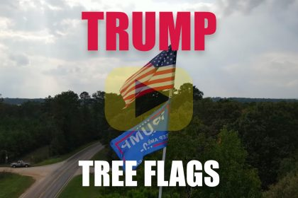 Lufkin Texas Tree Flags Trump