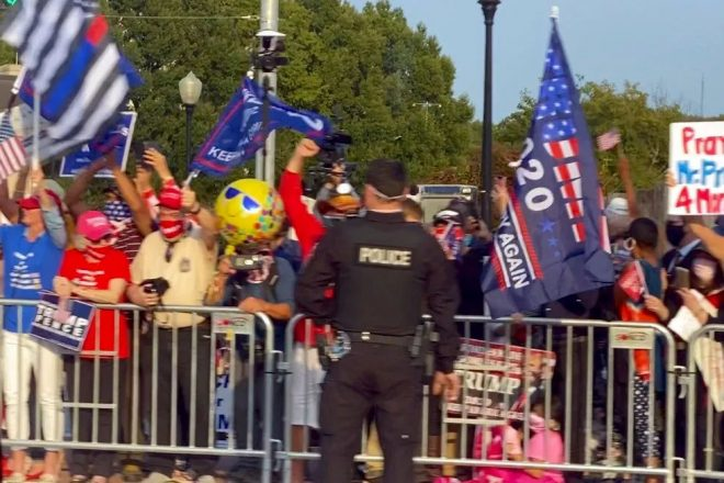 Get Well Trump Rallies Outside Walter Reed Medical Center