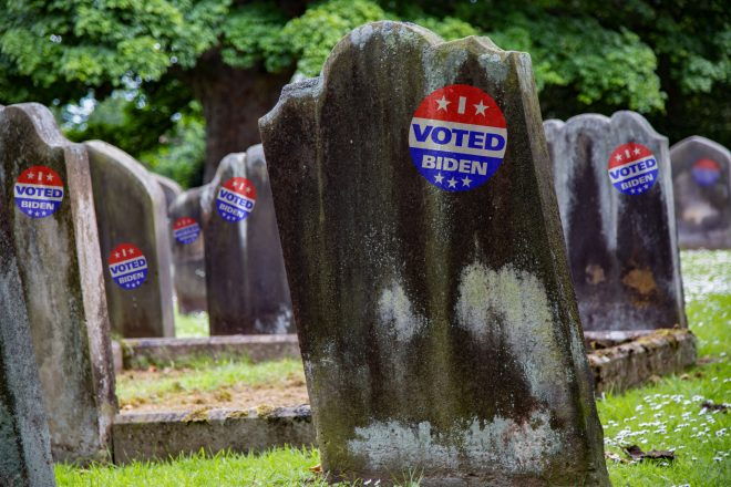 How many dead people voted in 2020 presidential election?