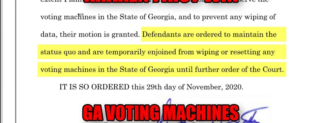 Kraken First Win GA Voting Machines Restraining Order