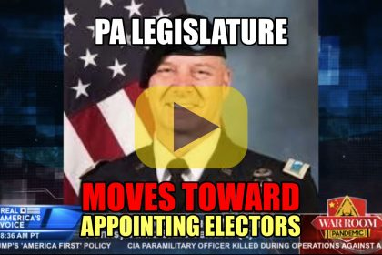 PA Legislature Moves Toward Appointing Electors