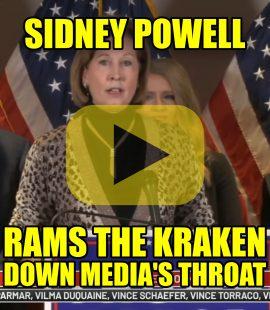Sidney Powell Rams the Kraken Down Fake News Media's Throat