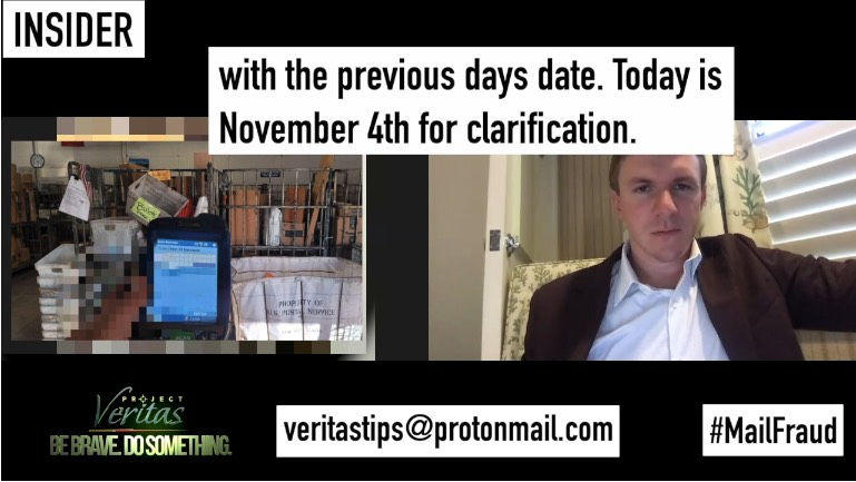 Project Veritas Backdated Mail-in Votes Mail Fraud