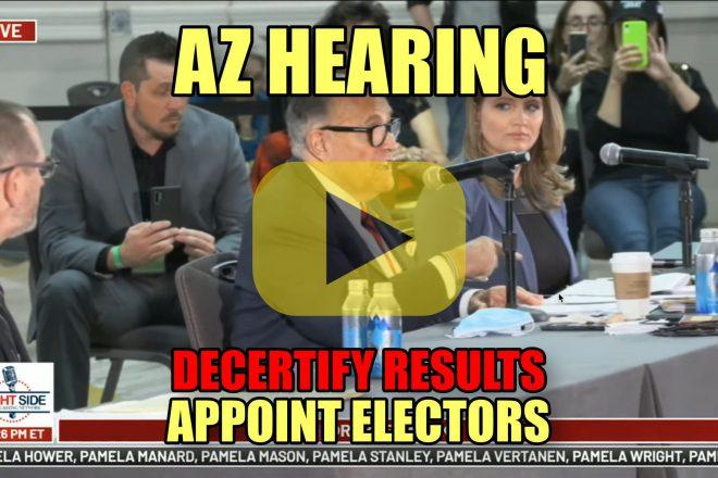 AZ Hearing Decertify Results Appoint Electors