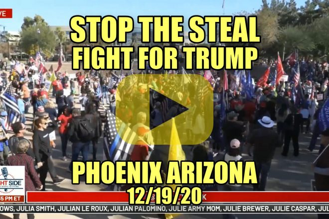 Stop the Steal Fight for Trump Rally Phoenix Arizona