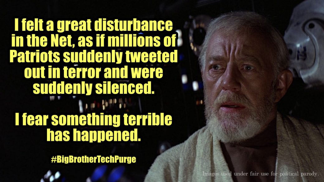I felt a great disturbance in the net.