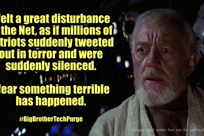 I felt a great disturbance in the net.