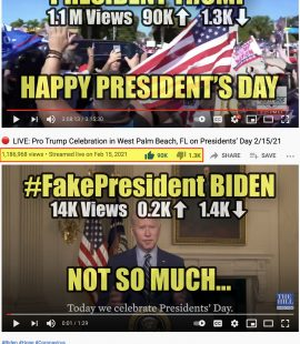 Happy President's Day President Trump vs #FakePresident Biden