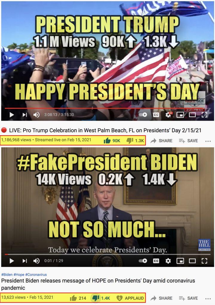 Happy President's Day President Trump vs #FakePresident Biden