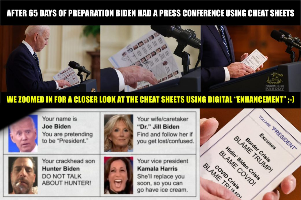 After 65 days of preparation Biden has press conference using cheat sheets