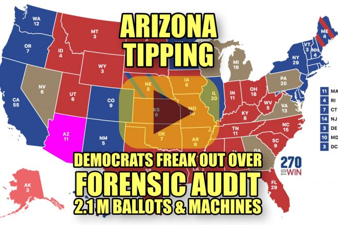Arizona Tipping Democrast Freak Out Over Forensic Audit of 2.1 Million Ballots and Voting Machines