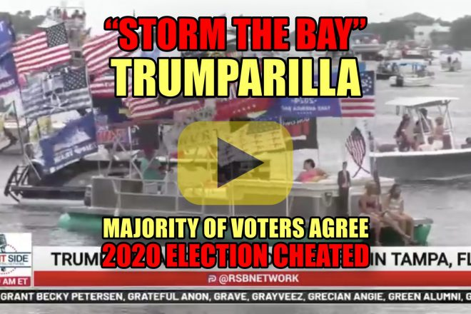 """""""Storm the Bay"""" Trumparilla Boat Parade as Majority of Voters Agree 2020 Election Cheated"""