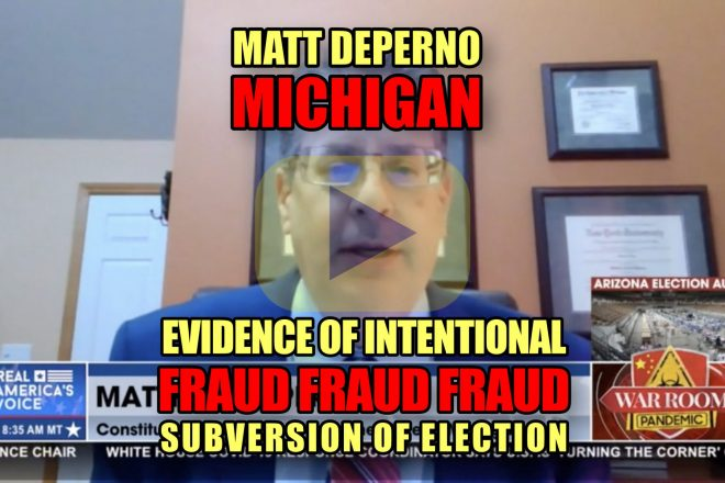 Matt DePerno Michigan Evidence of Intentional Fraud Fraud Fraud Subversion of Election