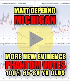 Matt DePerno Michigan More New Evidence Phantom Votes 100% 65-80 Yr Olds