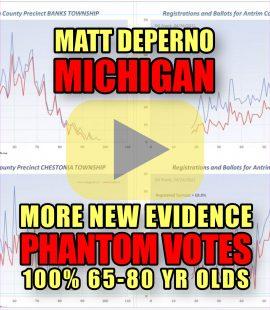 Matt DePerno Michigan More New Evidence Phantom Votes 100% 65-80 Yr Olds