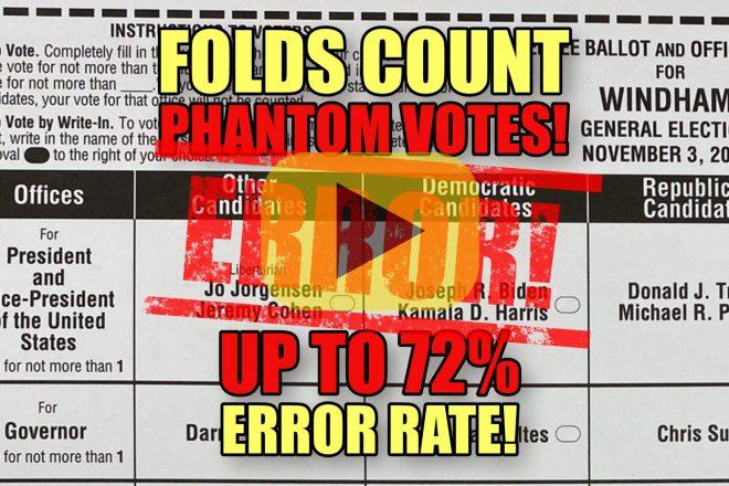 Folds Count Phantom Votes ERROR! Up to 72% Error Rate