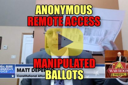 Anonymous Remote Access Manipulated Ballots - Matt DePerno