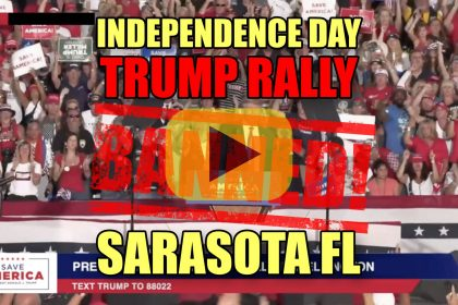 Independence Day Trump Rally BANNED! Sarasota FL