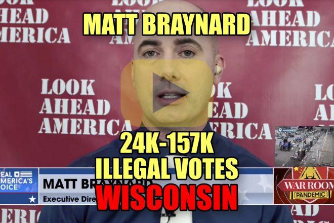 Matt Braynard 24K-157K Illegal Votes Wisconsin
