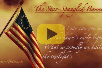 Tha Star Spangled Banner Lyrics & Betsy Ross Flag Animation