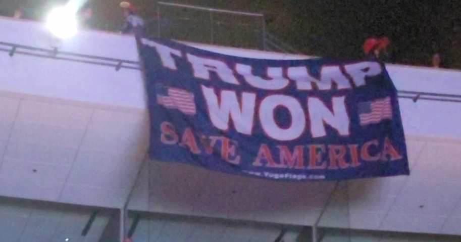 Trump Won Save America Banner