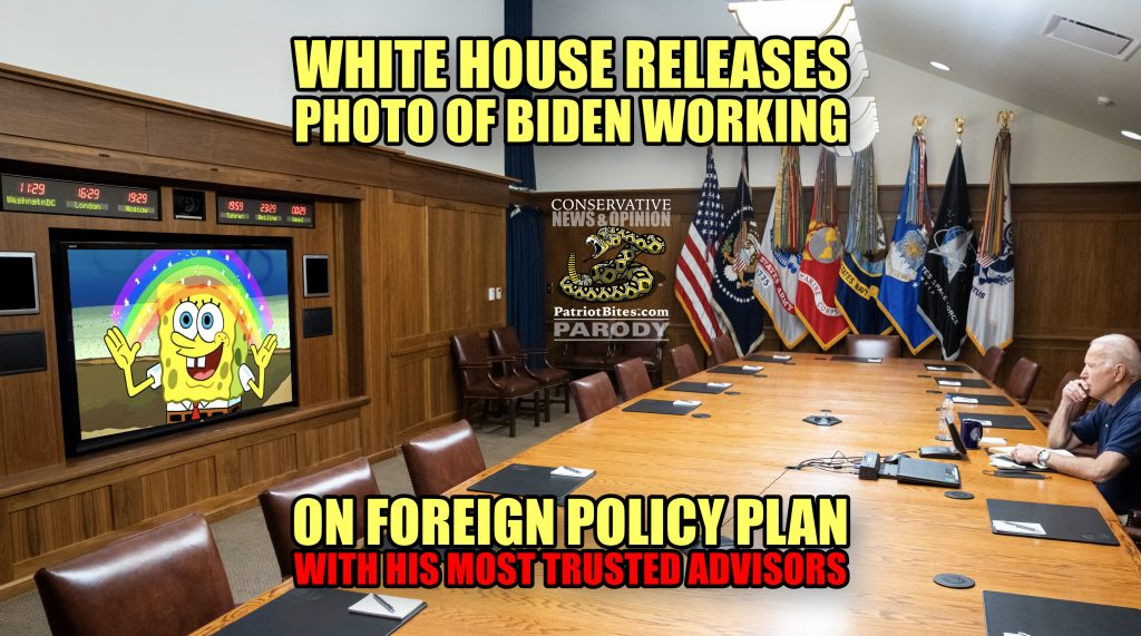 White House Releases Photo of Biden Working on Foreign Policy Plan as Kabul Falls to Taliban