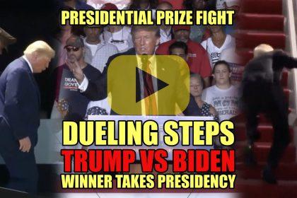 Presidential Prize Fight Dueling Steps Trump vs Biden Winner Takes Presidency