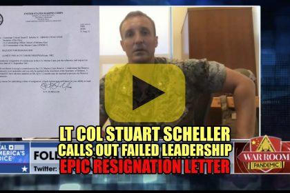 Lt Col Stuart Scheller Calls Out Failed Leadership Epic Resignation Letter